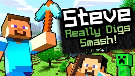 super smash bros minecraft steve trailer fan  youtube