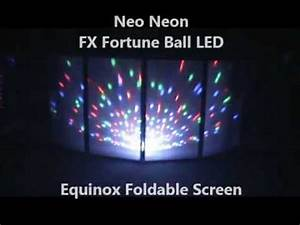 Neo Neon FX Fortune Ball LED Equinox Foldable Screen