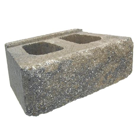 shop cumberland blend retaining wall block common 6 in x
