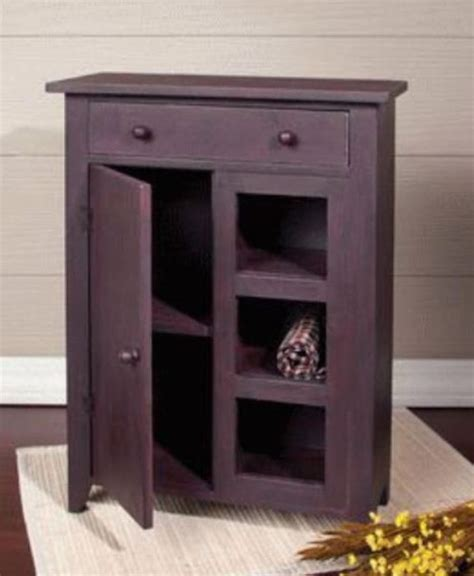cabinet with drawers and doors primitive small cabinet door drawer open shelves rust