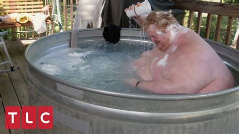 Can I Shower With A Ton In - due to his obesity casey must bathe outside in a trough