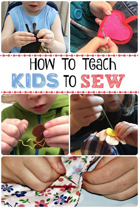 Teaching Kids To Sew  Red Ted Art's Blog