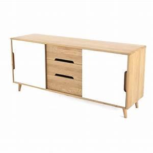 Meuble Bas Porte : buffet meuble bas elfy 2 portes coulissantes et 3 ~ Edinachiropracticcenter.com Idées de Décoration