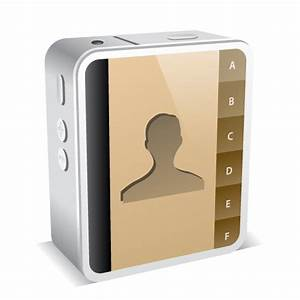 iPhone 4 White Address Book Icon - iPhone 4 Mini Icons ...