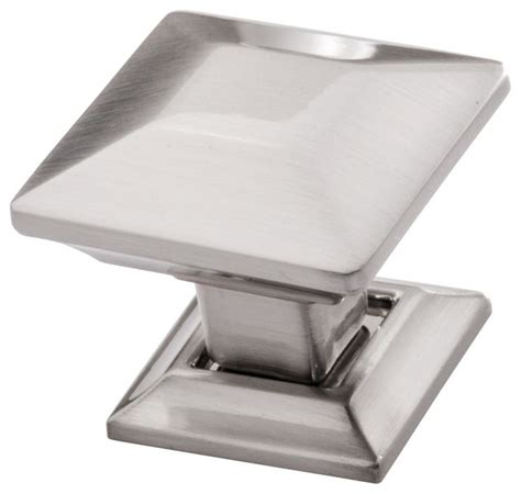 square kitchen cabinet knobs square satin nickel cabinet knob by southern hills