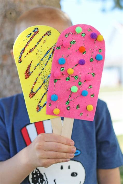 easy summer crafts that anyone can make happiness 717 | felt popsicles kid craft 7 768x1152