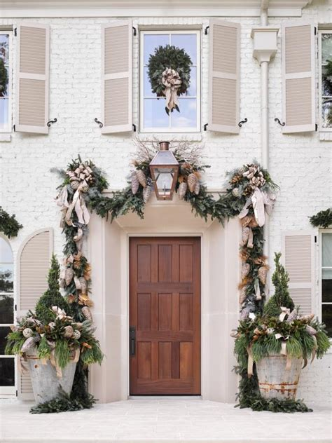 garland around front door showhouse decorating tips diy network made 3736
