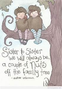 Cartoon Friends... Cute Sister Bday Quotes