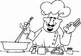 Chef Coloring Child sketch template