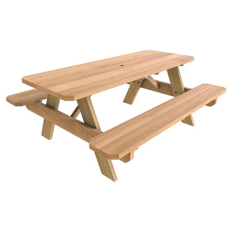 28 In X 72 In Wood Picnic Table144508  The Home Depot