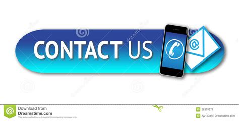 Contact Us Button Stock Illustration. Image Of Email