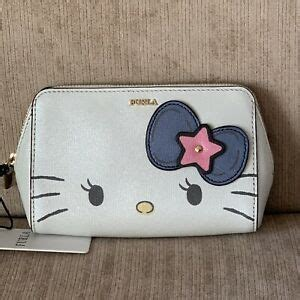 furla  kitty toni petalo blue white medium cosmetic case   bag  ed ebay