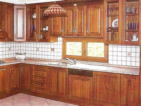 cucine con finestra sul lavello ciliegio