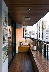 Loungemöbel Für Kleinen Balkon : sitzbank und deckenverkleidung aus holz f r den kleinen balkon balkon pinterest ~ Sanjose-hotels-ca.com Haus und Dekorationen