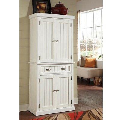 White Kitchen Pantry Bathroom Linen Cabinet Distressed