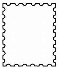 Postage Stamps Outline Border