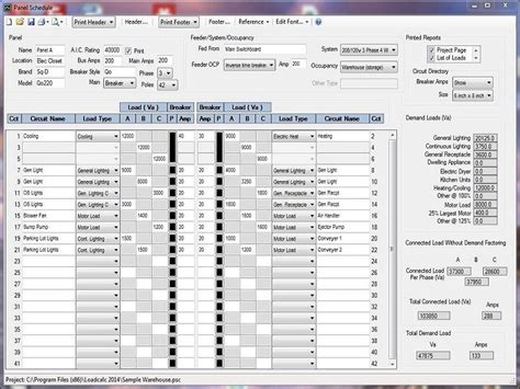 electrical panel schedule template excel panel schedule template portray loadcalc electrical excel software helendearest