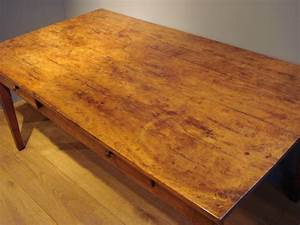 SOLD19TH CENTURY FRENCH YEW WOOD FARMHOUSE TABLE