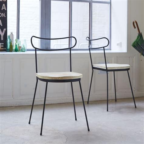 livraison repas bureau chaise en metal et pin lina chaises en bois pour