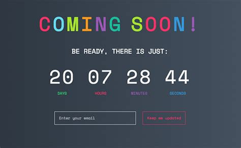 Free Coming Soon Page Coming Soon Page Design Exles And Templates Designmodo