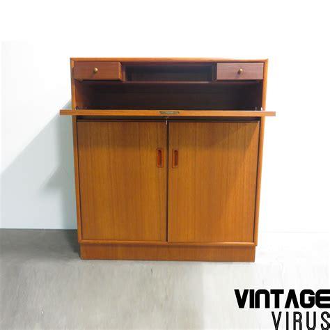 bureau secretaire vintage vintage secretaire bureau dressoirkast teakhout