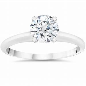 1 2ct lab grown diamond solitaire engagement ring 14k for Lab diamond wedding rings