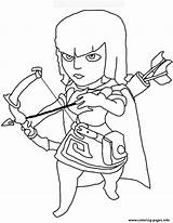 Clash Clans Coloring Pages Archer Printable sketch template