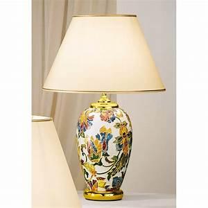 Lampe De Table Exterieur : lampe de table c ramique damasco 40 cm kolarz clairage ~ Teatrodelosmanantiales.com Idées de Décoration