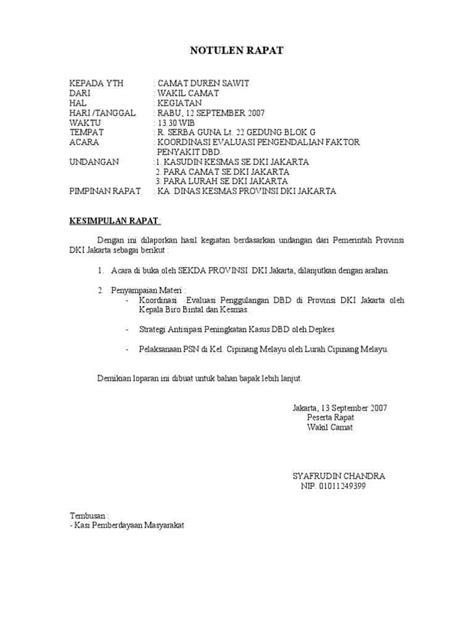 Contoh Format Notulen Rapat Dinas by 7 Contoh Notulen Rapat Terlengkap Dilengkapi Dengan Cara