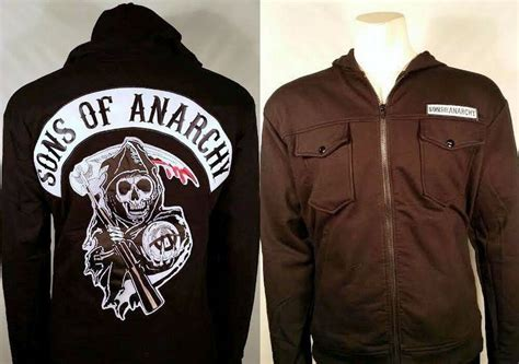 Authentic Sons Of Anarchy Patch Highway Fleece Soa Zip-up