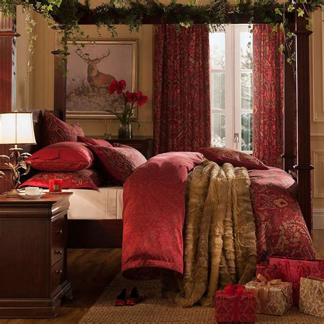 dorma red marianna duvet cover set dunelm christmas