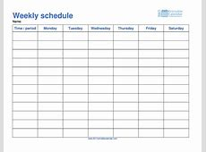 Schedule Template – 2017 printable calendar