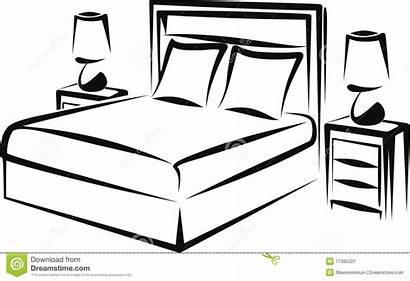 Bedroom Simple Interior Illustration