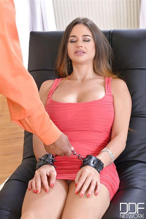 MILF Cathy Heaven is forced to deepthroat a large black cock - PornPics.com