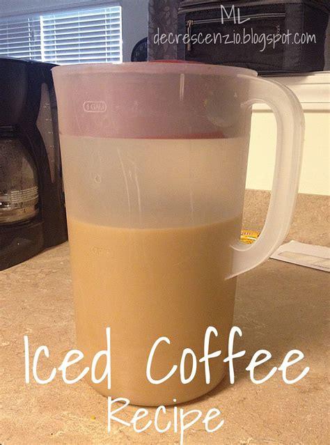 * to make double strength coffee, measure one 2/3 c. Homemade Starbucks Iced coffee: 10 cups coffee, 1/2 c. sugar, 1/2 c. brown sugar, 1/2 c. vanilla ...