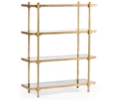 glass etagere display bookcase swanky interiors