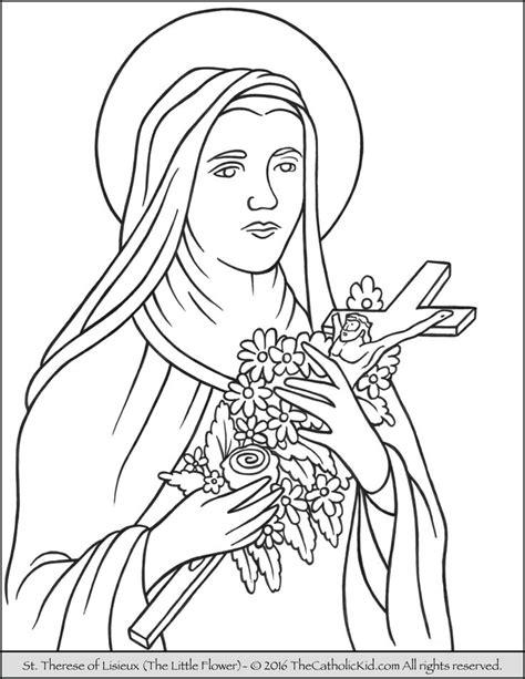 catholic saints coloring pages images
