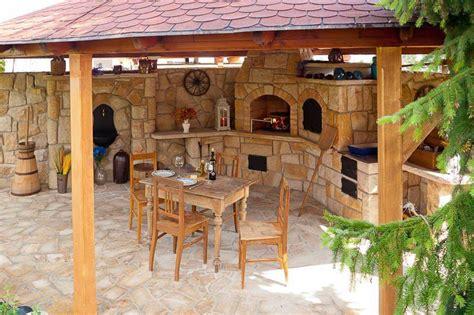 parrilleras  cocinas de verano rusticas fogones