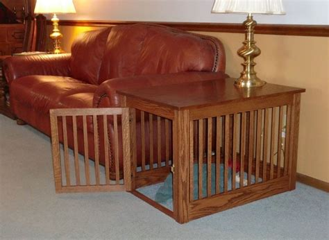 popular dog crate  table loccie  homes gardens