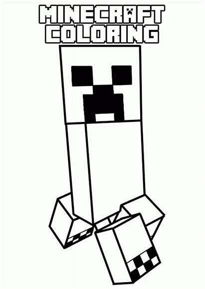 Coloring Minecraft Pages Printable Cool Popular