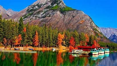 Fall Mountain Autumn Canada Forest Desktop Lake