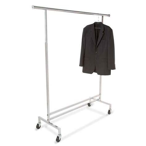 Rolling Clothes Rack  Square Tubing