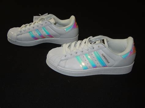 Iridescent Adidas Superstars Reflective Hologram White