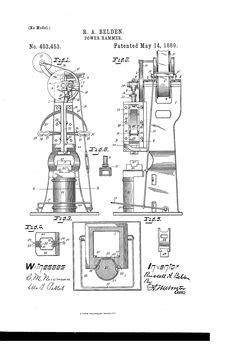 Patent US753618 - Power-hammer. - Google Patents | Power