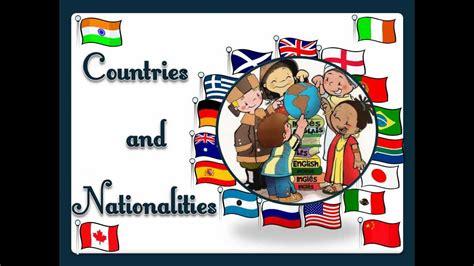 countries  nationalities  sound english