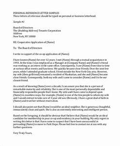 recommendation letter for co op board free 6 sample personal reference letter templates in ms
