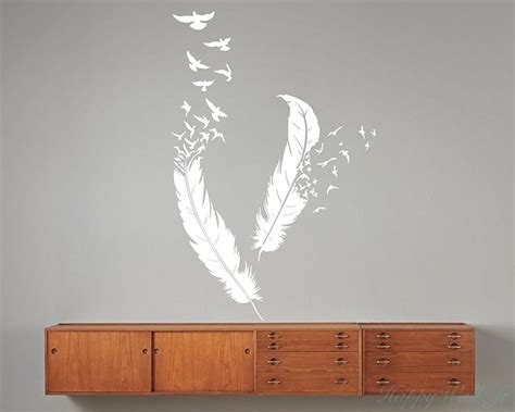 vin blanc chambre d amour stickers une paire de plumes moderne