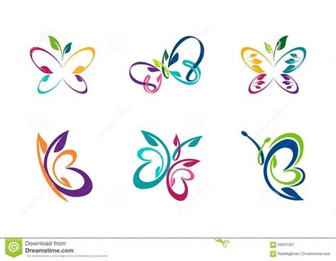 butterfly logo butterfly abstract concept stock vector