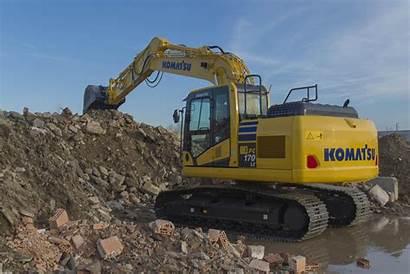 Komatsu Pc170lc Excavator Hydraulikbagger Eine Kraftvolle Heben