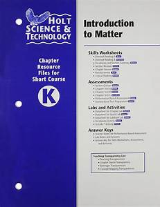 Bestseller  Holt Introduction To Matter Answer Key